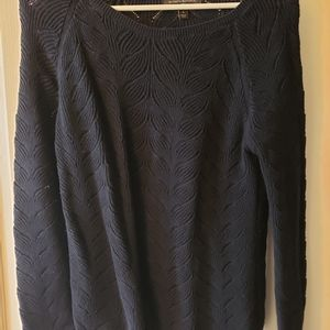 Navy Sweater knit